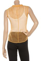 Jil Sander Silkorganza Blouse in Orange - Lyst
