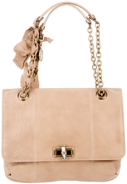 Lanvin Happy Bag in Beige - Lyst