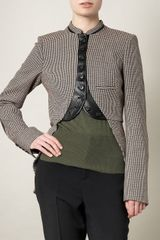 McQ by Alexander McQueen Tweed Kickpleat Jacket - Lyst