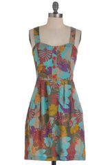 ModCloth Lotus Pocus Dress - Lyst