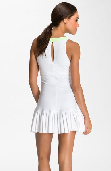 Nike Maria Slam Statement Tennis Dress In White White