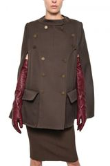 Nina Ricci Wool Drill Military Cape Coat - Lyst