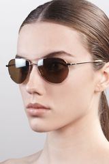 Oliver Peoples Benedict Basic Aviators Goldensmoky - Lyst
