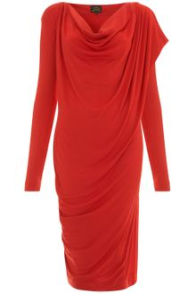 Vivienne Westwood Anglomania Scarlet Toga Draped Shoulder Jersey Dress - Lyst