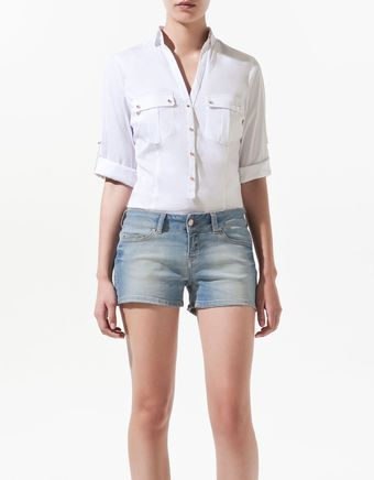 Zara Safari Shirt - Lyst