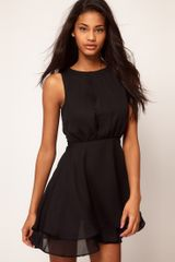 ASOS Collection Asos Sleeveless Mini Dress with Double Skirt