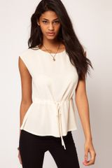 ASOS Collection Asos Top with Soft Peplum - Lyst