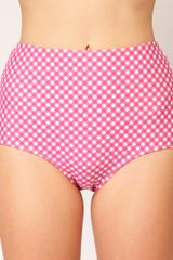 Asos Gingham High Waisted Bikini Brief - Lyst