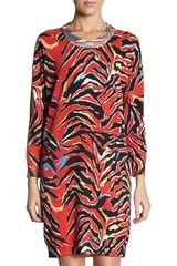 Balenciaga Zebra Electric Pop Sweater Dress - Lyst