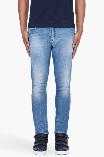 Diesel Blue Teppherne Jogg Jeans in Blue for Men - Lyst