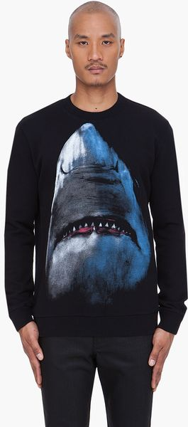 Givenchy Shark Print Sweater - Lyst
