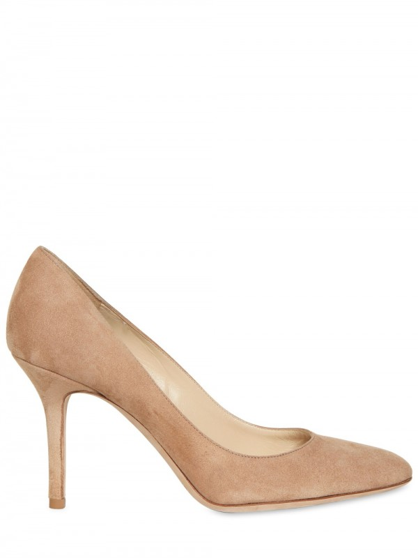 Lyst - Jimmy Choo Gilbert Suede Pumps In Natural-7261