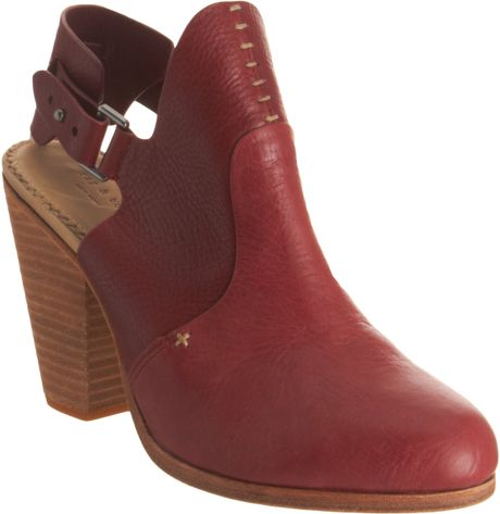 Rag & Bone Sandra Bootie in Red - Lyst