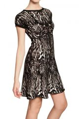 Roberto Cavalli Viscose Jacquard Dress - Lyst