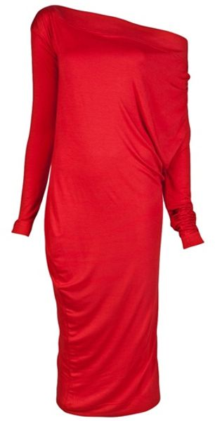 Vivienne Westwood Anglomania Toga Drape Dress in Red - Lyst