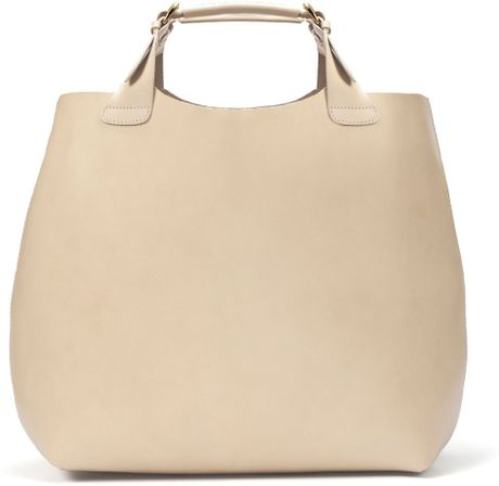 Zara Plaited Shopper in Beige (133) - Lyst