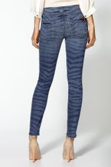 7 For All Mankind The Crop Skinny Jeans in Blue (laser zebra) - Lyst