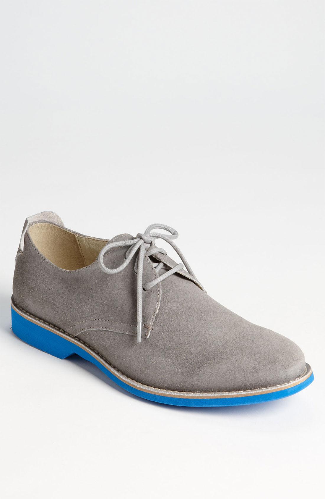 aldo arkin buck shoe in gray for grey suede lyst