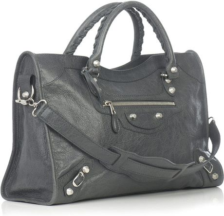 Balenciaga Giant City Bag in Gray (grey) - Lyst