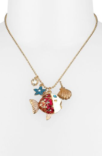 Betsey Johnson Sea Excursion Fish Pendant Necklace - Lyst
