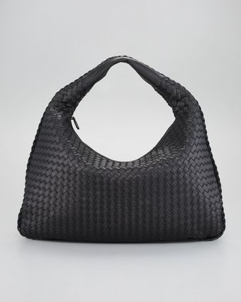 Bottega Veneta Large Veneta Hobo Black - Lyst