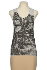 Bui De Barbara Bui Sleeveless Tshirt in Gray (grey) - Lyst