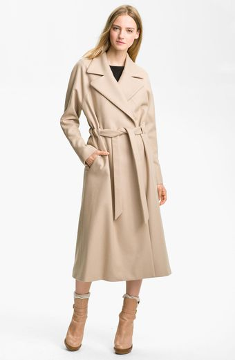 Cacharel Long Belted Coat - Lyst