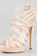 Casadei Strappy Platform Patent Leather Sandals - Lyst