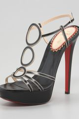 Christian Louboutin Troisronds Leather Sandal - Lyst