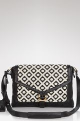 Diane Von Furstenberg Crossbody Drew Jacquard with Ipad Sleeve - Lyst