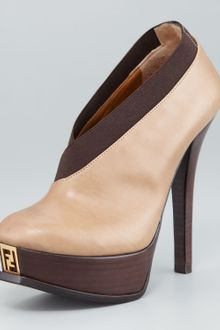 Fendi Fendista Leather Fauxwrap Bootie - Lyst