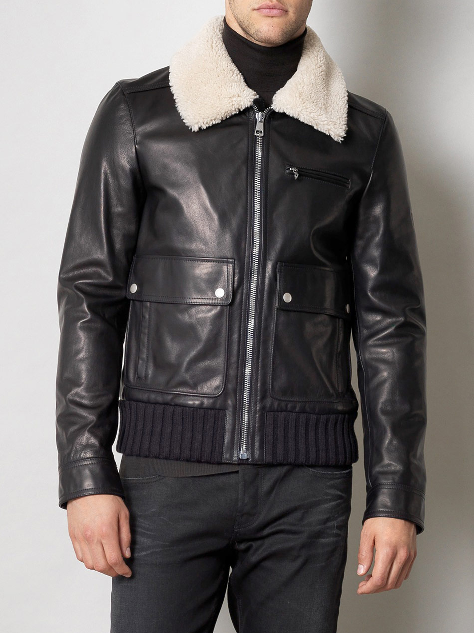 Gucci Horse Leather Bomber Jacket in Black for Men   Lyst