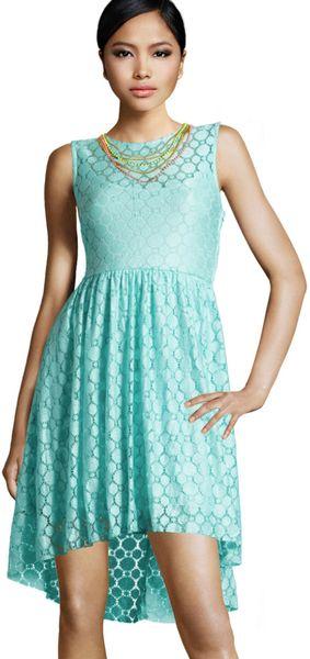 H Amp M Dress In Green Mint Lyst