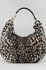 Jimmy Choo Leopardprint Calf Hair Solar Hobo - Lyst