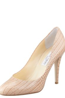 Jimmy Choo Vikki Crocodileembossed Pump - Lyst