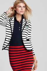 Juicy Couture Shrunken Striped Blazer - Lyst