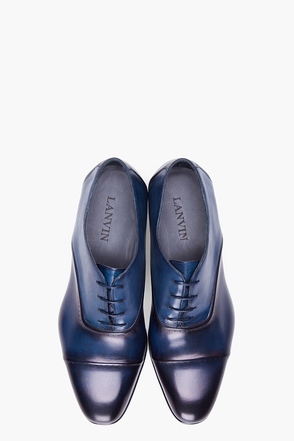 Lyst - Lanvin Navy Toesade Dress Shoes in Blue for Men