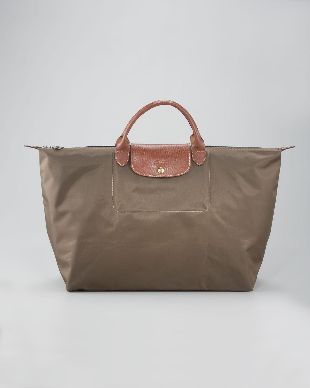Le Pliage Large Travel Bag Taupe