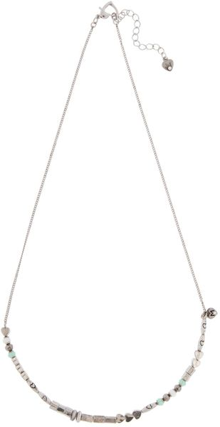 Martine Wester Chrysolite Opal Silver Beaded Necklace in Green - Lyst