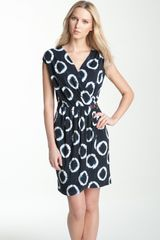 Michael by Michael Kors Print Faux Wrap Dress - Lyst