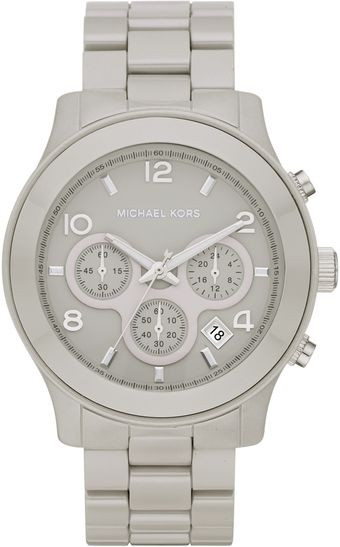 Michael Kors Ceramic Runway Watch - Lyst