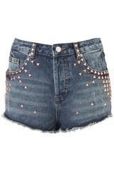 Moto Moto Copper Stud Denim Hotpants
