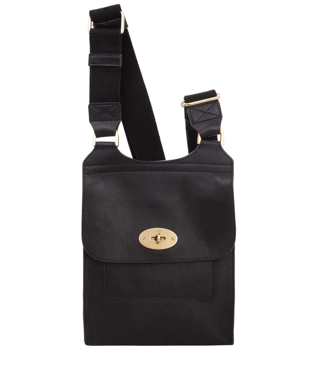 03d739e5bbab ... shop mulberry black leather antony messenger bag in black for men lyst  0866d ae5de
