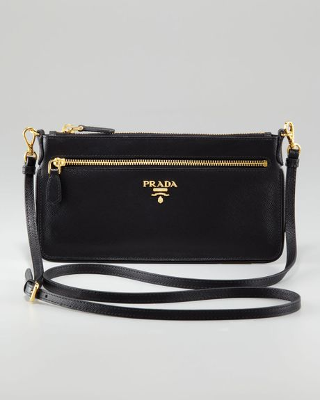 Prada Zip Top Document Holder in Black (002 nero -) - Lyst