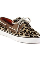 Sperry Top-sider Bahama Boat Shoes in Animal (leopard pony) - Lyst