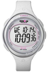 Timex® Womens Digital Ironman 30 Lap White Resin Strap 38mm T5k601um - Lyst