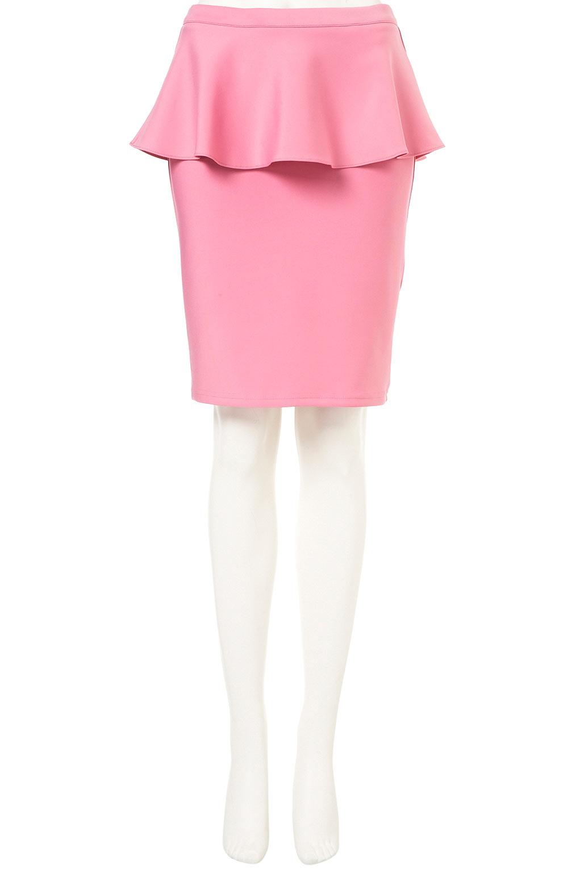 topshop scuba peplum pencil skirt in pink lyst