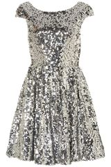 Topshop Sequin Skater Dress