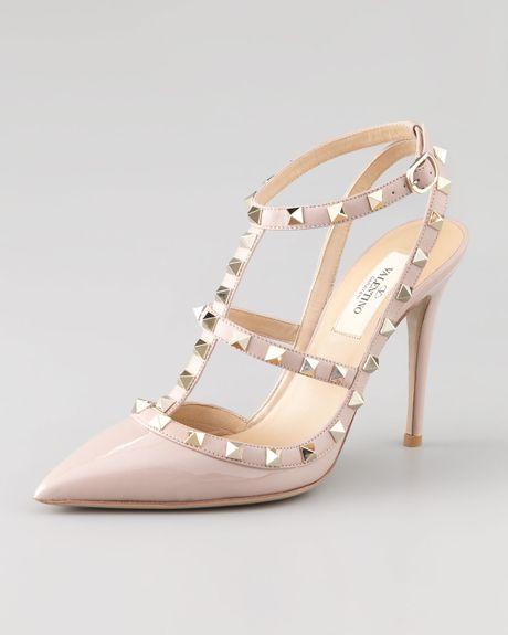 Valentino Rockstud Classic Slingback in Pink (blush)