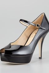 Saint Laurent Tribute Mary Jane Pump - Lyst